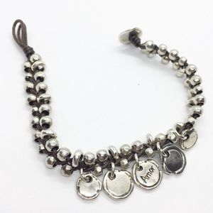 Uno de 50 Wrap Bracelet Silver Beaded Amor Charm
